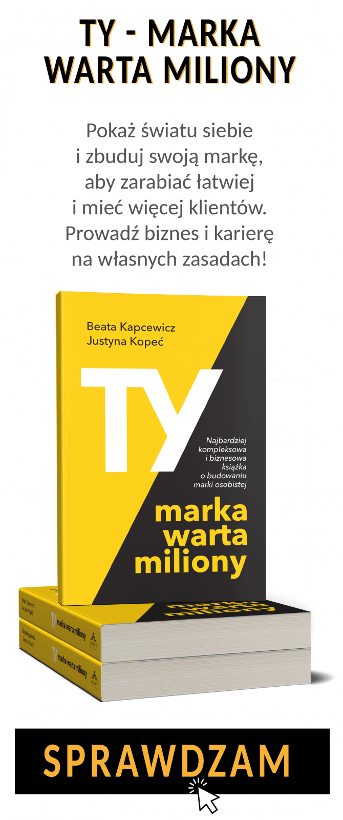Marka Ty książka Justyna Kopeć Beata Kapcewicz Ty - marka warta miliony